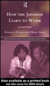 Ebook in inglese How the Japanese Learn to Work Dore, R. P. , Sako, Mari