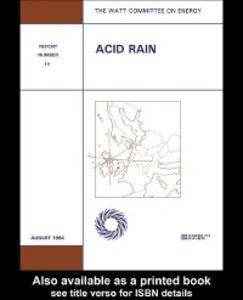 Ebook in inglese Acid Rain Publications, Watt Committee on Energy