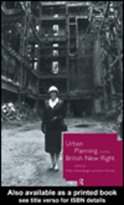 Ebook in inglese Urban Planning and the British New Right