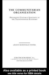 Ebook in inglese Communitarian Organization Foster, Jo Ann McDonald