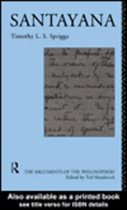 Ebook in inglese Santayana