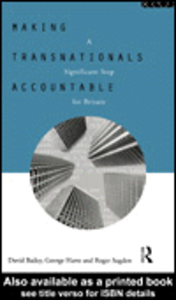 Ebook in inglese Making Transnationals Accountable Bailey, David , Harte, George , Sugden, Roger