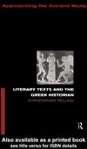 Ebook in inglese Literary Texts and the Greek Historian Pelling, Christopher