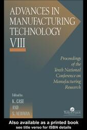 Advances In Manufacturing Technology VIII