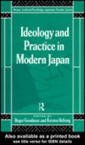 Ebook in inglese Ideology and Practice in Modern Japan
