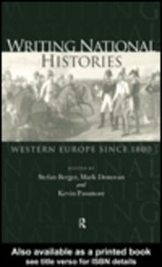 Foto Cover di Writing National Histories, Ebook inglese di AA.VV edito da