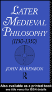 Ebook in inglese Later Medieval Philosophy Marenbon, John
