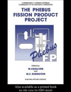 Ebook in inglese Phebus Fission Product Project