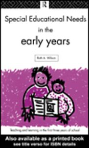 Ebook in inglese Special Educational Needs in the Early Years Wilson, Ruth