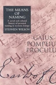 Ebook in inglese Means Of Naming Wilson, Stephen