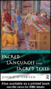 Ebook in inglese Sacred Languages and Sacred Texts Sawyer, John