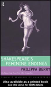 Ebook in inglese Shakespeare's Feminine Endings Berry, Philippa