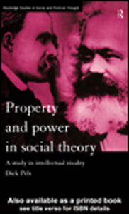 Ebook in inglese Property and Power in Social Theory Pels, Dick