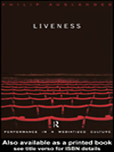 Ebook in inglese Liveness Auslander, Philip