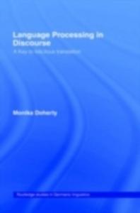 Ebook in inglese Language Processing in Discourse Doherty, Monika