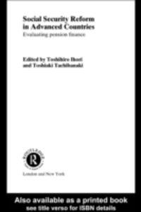 Foto Cover di Social Security Reform in Advanced Countries, Ebook inglese di  edito da Taylor and Francis