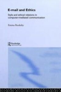Ebook in inglese Email and Ethics Rooksby, Emma