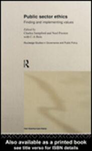 Foto Cover di Public Sector Ethics, Ebook inglese di Charles Sampford,Noel Preston, edito da