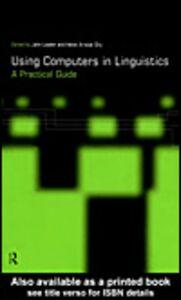 Foto Cover di Using Computers in Linguistics, Ebook inglese di Helen Aristar Dry,John Lawler, edito da