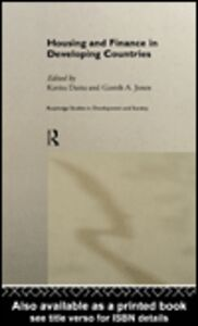Foto Cover di Housing and Finance in Developing Countries, Ebook inglese di Kavita Datta,Gareth Jones, edito da
