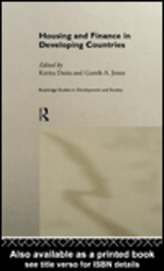 Ebook in inglese Housing and Finance in Developing Countries Datta, Kavita , Jones, Gareth