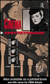 Cinema and Spectatorship