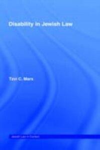 Ebook in inglese Disability in Jewish Law Marx, Tzvi C.