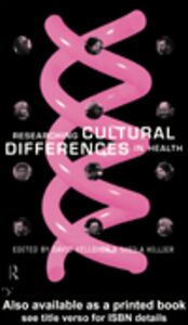 Ebook in inglese Researching Cultural Differences in Health