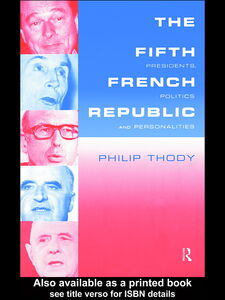 Ebook in inglese The Fifth French Republic Thody, Philip
