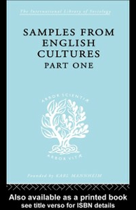 Ebook in inglese Samples from English Cultures Klein, Josephine