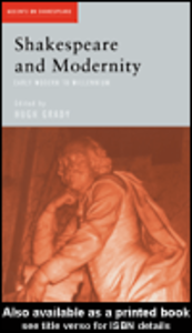 Ebook in inglese Shakespeare and Modernity