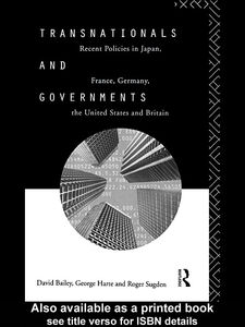 Ebook in inglese Transnationals and Governments Bailey, David , Harte, George , Sugden, Roger