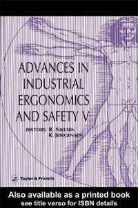 Ebook in inglese Advances In Industrial Ergonomics And Safety V -, -