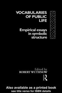 Ebook in inglese Vocabularies Of Public Life Wuthnow, Robert