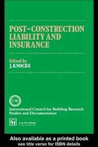 Ebook in inglese Post-Construction Liability and Insurance