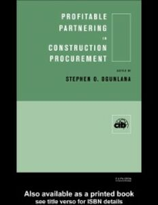 Ebook in inglese Profitable Partnering in Construction Procurement -, -