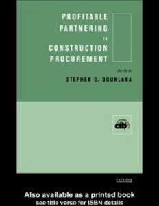 Ebook in inglese Profitable Partnering in Construction Procurement -, -