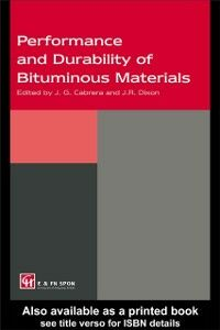 Ebook in inglese Performance and Durability of Bituminous Materials