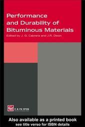 Performance and Durability of Bituminous Materials