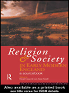 Ebook in inglese Religion and Society in Early Modern England