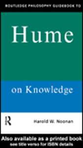 Ebook in inglese Routledge Philosophy GuideBook to Hume on Knowledge Noonan, Harold W.
