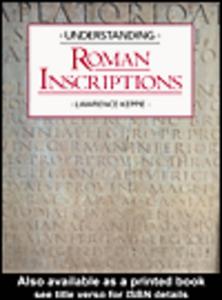 Ebook in inglese Understanding Roman Inscriptions Keppie, Lawrence