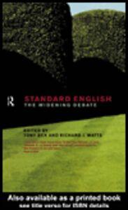 Foto Cover di Standard English, Ebook inglese di Richard J. Watts,Tony Bex, edito da
