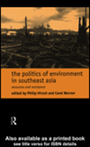 Ebook in inglese The Politics of Environment in Southeast Asia