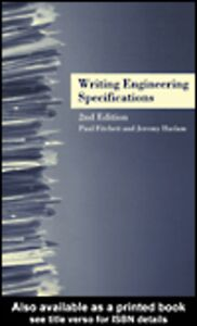 Ebook in inglese Writing Engineering Specifications Fitchett, Paul , Haslam, Jeremy