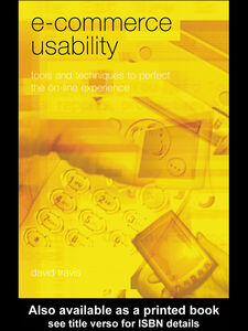 Foto Cover di E-Commerce Usability, Ebook inglese di David Travis, edito da