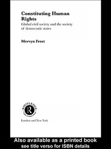 Foto Cover di Constituting Human Rights, Ebook inglese di Mervyn Frost, edito da