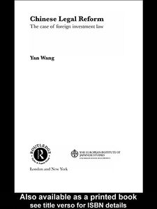 Ebook in inglese Chinese Legal Reform Wang, Yan