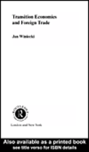 Ebook in inglese Transition Economies and Foreign Trade Winiecki, Jan