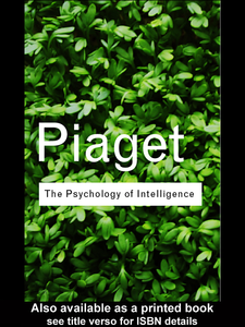 Ebook in inglese The Psychology of Intelligence Piaget, Jean
